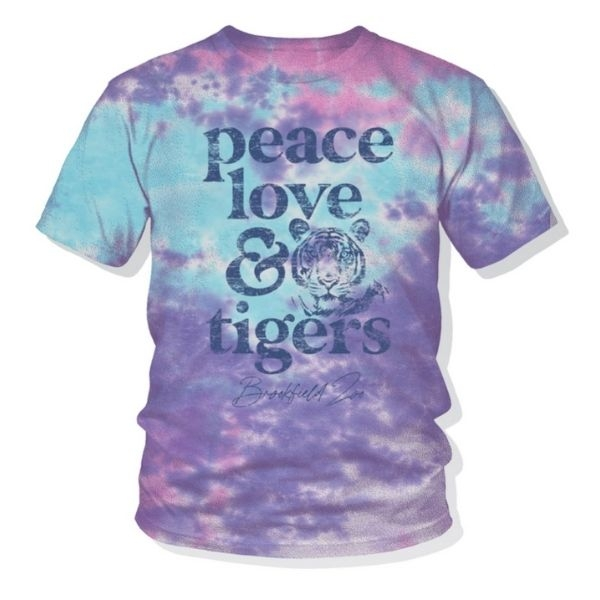 YOUTH PEACE LOVE TIGERS TIE DYED TEE