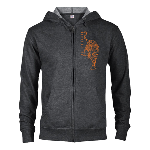 ADULT TIGER ZIP HOOD