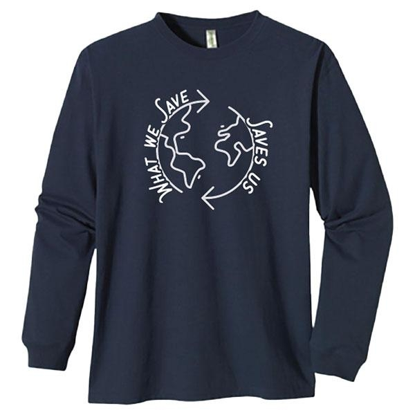 ADULT LONG SLEEVE TEE WHAT WE SAVE SAVE US