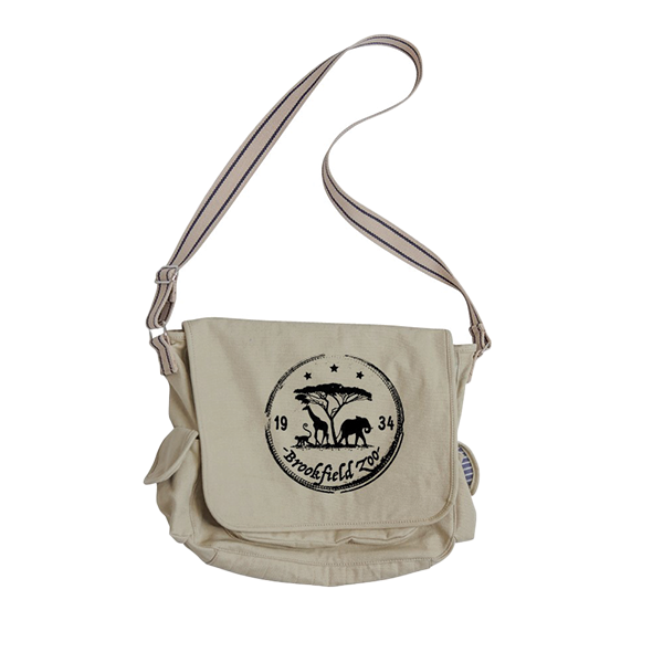 BROOKFIELD ZOO SERENGETI SCENE  MESSENGER BAG