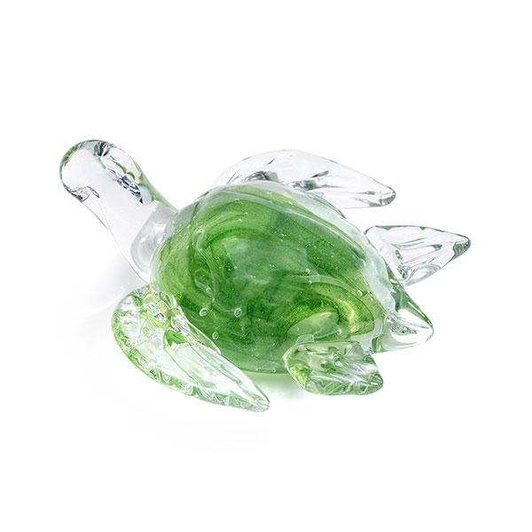 SEA TURTLE GLASS FIGURINE- GLOW IN DARK