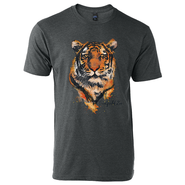 ADULT TIGER SHORT SLEEVE TEE CHARCOAL