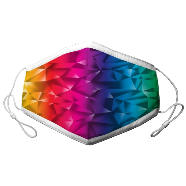 YOUTH ADJUSTABLE RAINBOW GRADIANT FACE MASK