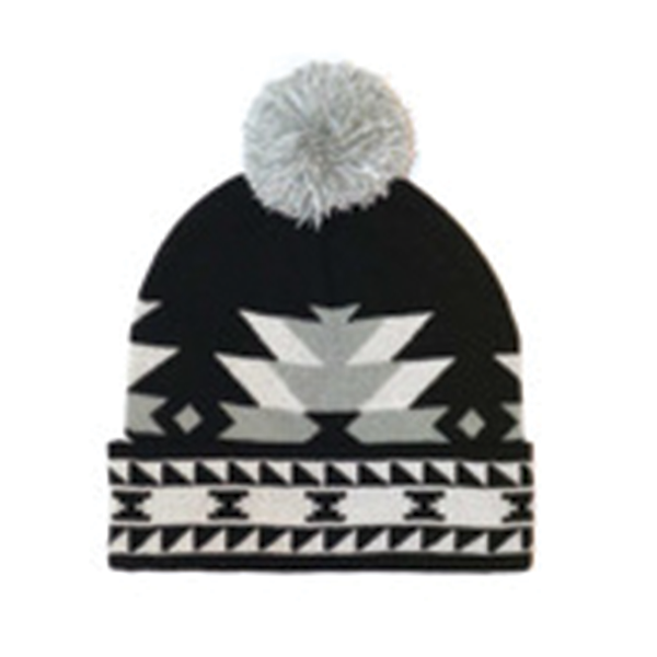 KNITTED TUQUE WITH POM POM