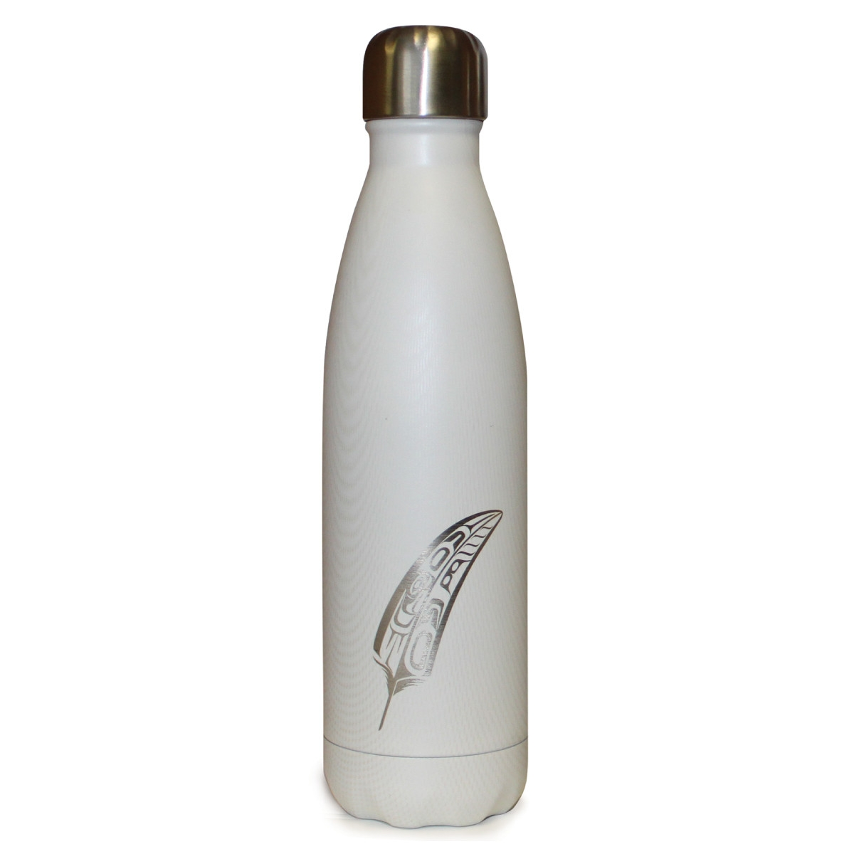 INSULATED BOTTLE WITH FEATHER DESIGN