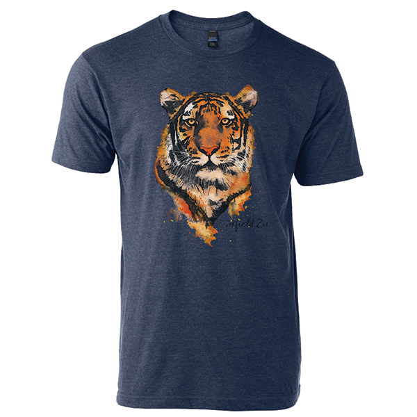 ADULT TIGER SHORT SLEEVE TEE DENIM