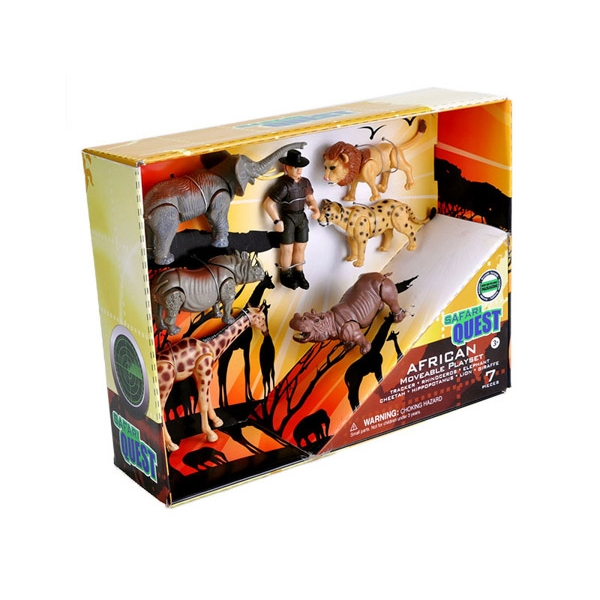 SAFARI QUEST MOVEABLE ANIMALS PLAYSET