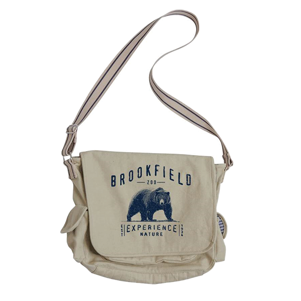 BROOKFIELD ZOO BEAR DESIGN  MESSENGER BAG