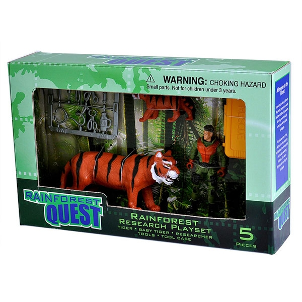 RAINFOREST QUEST TIGER ADVENTURE PLAYSET